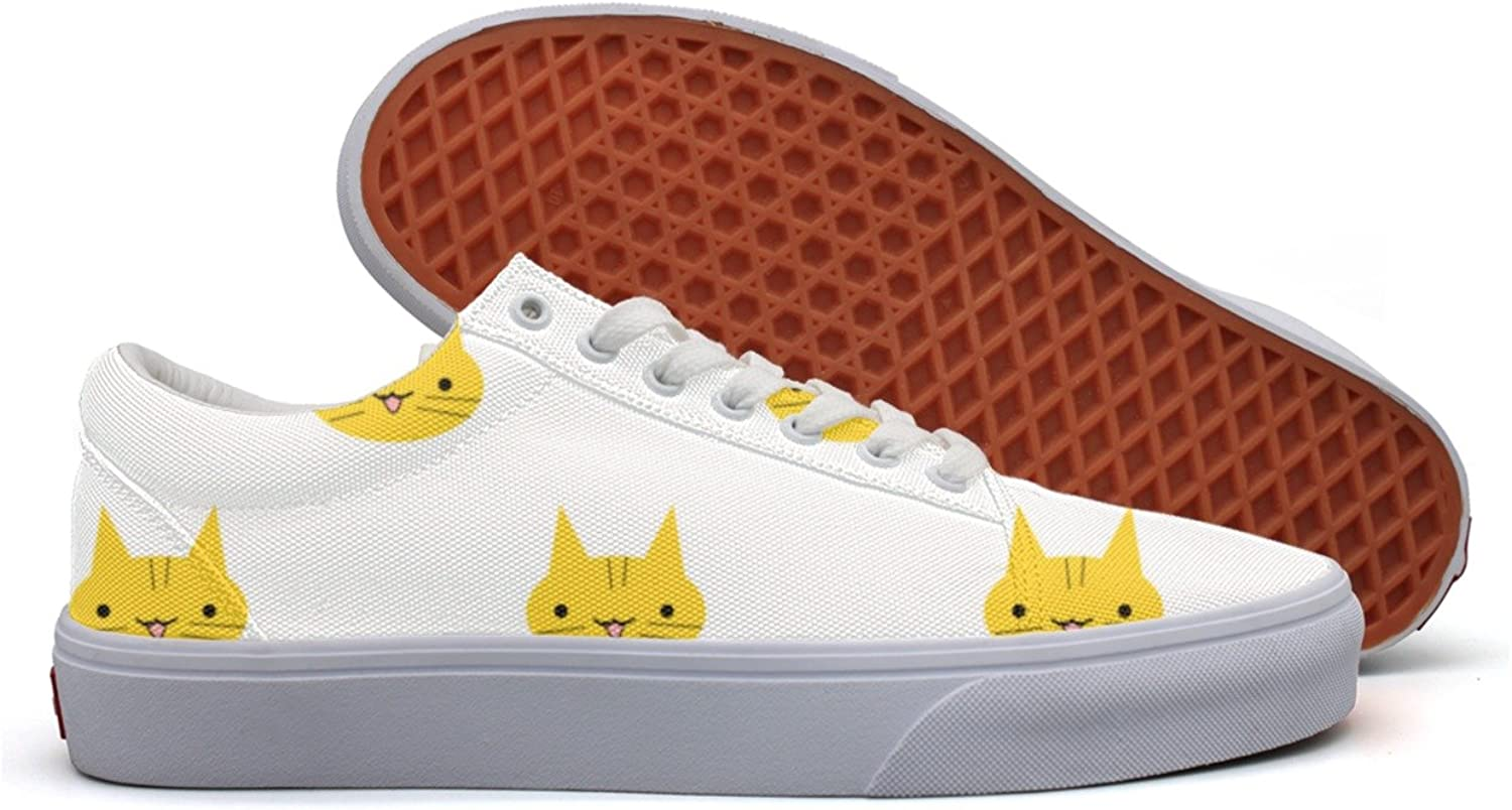 Womens Cute Cat Face Comfortable Canvas shoes