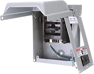 Siemens WF2030GFCI 30 Amp Fusible AC Disconnect with GFI Receptacle