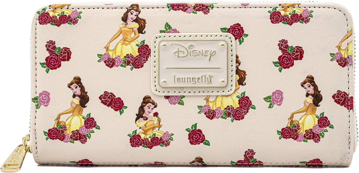 Loungefly Beauty and the Beast Belle AOP Rose Wallet