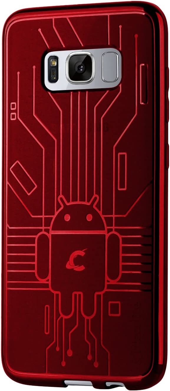 Cruzerlite Cell Phone Case for Samsung Galaxy S8 - Red