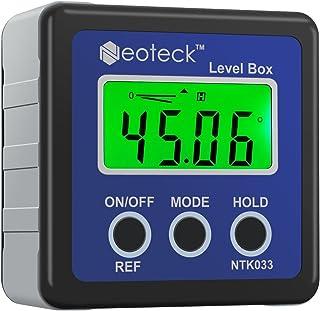 Neoteck Mesureur Angle Mesure Angle Digital LCD Goniomètres Numériques Coque Chanfrein..