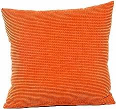 AmyDong Throw Pillow Case Christmas Printing Sofa Bed Home Decor Pillow Cover Cushion Cover (Orange)