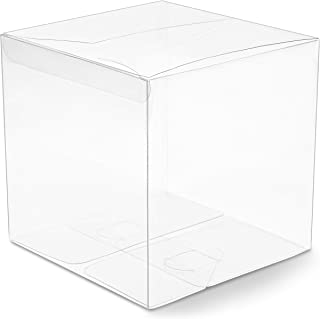 Clear Candy Gift Box, Transparent Boxes for Candy Party Favors (6 In, 30 Pack)