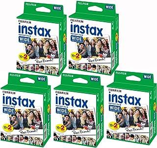 Fujifilm Instax – 5 kutu 20 fotoğraf kağıdı (100 fotoğraf geniş formatta) Fuji Instax 210 için