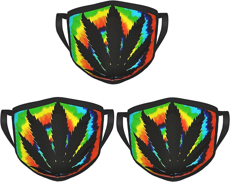 Balaclava Earmuffs Tie Dye Marijuana Cannabis Smoking 420 Face Mouth Cover Mask Reusable Washable Scarf Towel Cover Headwrap