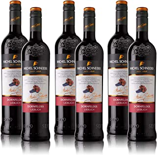 6 Flaschen Michel Schneider Dornfelder Pfalz QbA, lieblich 6 x 0,75 l