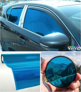 VViViD Colorful Transparent Vinyl Car Window Tinting 30 Inch x 60 Inch 2 Roll Pack (Blue)