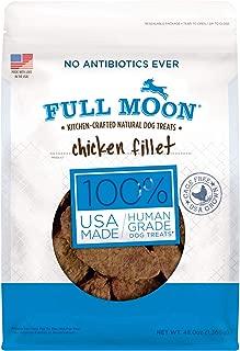 Full Moon All Natural Human Grade Dog Treats, Chicken Fillet, 3 Lb.