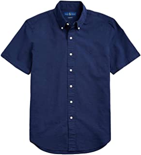 Men's Nailshead Seersucker Short Sleeve Shirt