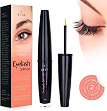 EssyNaturals Eyelash and Brow Growth Serum Irritation Free Formula - 'Dermatologist Certified' - Guaranteed Results in Just 3-4 Weeks for Longer, Thicker, and Fuller Eyelashes