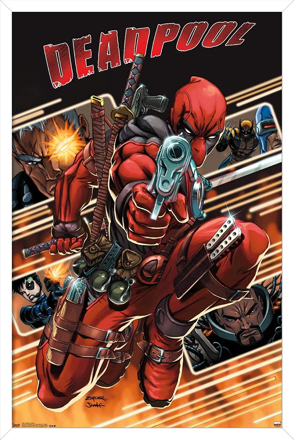 Trends International Marvel Comics - Detroit Mall Free Shipping New W Deadpool Collage Attack