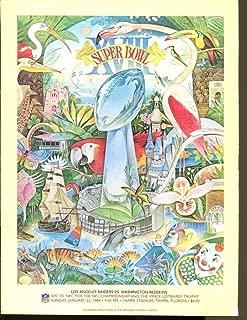 Super Bowl XVIII 18 Raiders v Redskins 1/22/84 Tampa Stadium Marcus Allen MVP