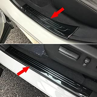 Beautost Fit for Honda 2017 2018 2019 CR-V CRV Stainless Steel Inside Door Sill Scuff Plate Guard Cover Trim (Black)