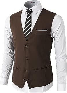 Mens Dress Slim Fit Vests Premium Business Dress Suit Vests Button Closure