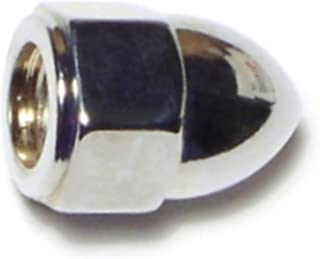 TOHIA 50pcs #10-24 Acorn Nuts Stainless Steel Coarse Thread Hex Cap Nuts