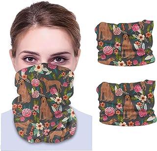 Nother Rhodesian Ridgeback blommig hundras unik ren ras män & kvinnor ansikte skydd bandana, multifunktionell huvudband ha...