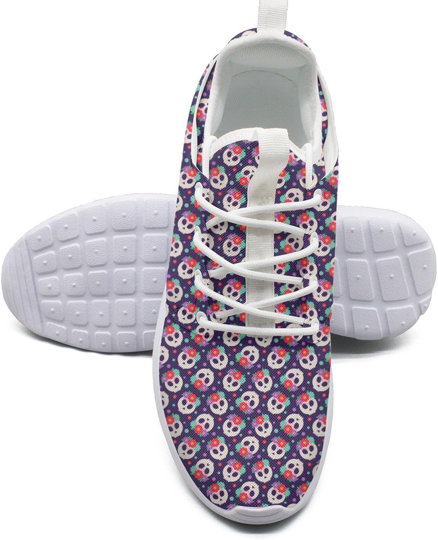Färg för Skulls dag av döda Vegan springaning skor Kvinnstorlek 8