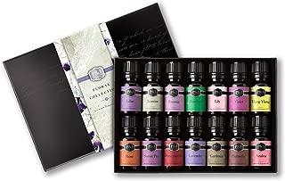 Floral Set of 14 Premium Grade Fragrance Oils - Violet, Rose, Freesia, Jasmine, Lilac, Gardenia, Lily, Honeysuckle, Azalea, Ylang Ylang, Sweet Pea, Plumeria, Lavender, Bamboo - 10ml