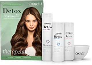 Cadiveu detox hair and scalp treatment Shampoo 250ml, Conditioner 250ml and Proteina 320ml. (Set of 3)
