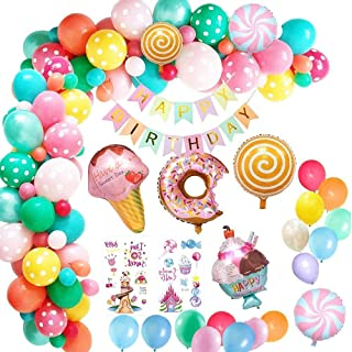 Donut Grow Up Party Decorations Supplies Kit - 46Pcs - Donut Theme Birthday Party Decorations - Donut Grow Up Balloons, Ca...
