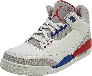 Nike Men's Air Jordan 3 Retro International Flight Sail/Sport Royal-Light Bone 136064-140 (Size: 14)