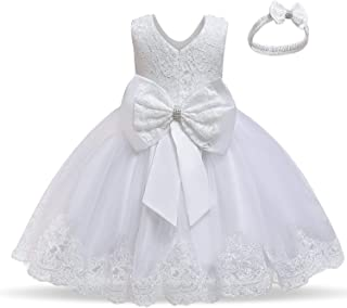 NNJXD Girls` Tulle Flower Princess Wedding Dress for Toddler and Baby Girl