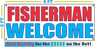 Fisherman Welcome 2x5 Banner Sign