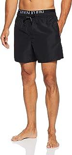 CALVIN KLEIN Men's Core Diagonal Double Band Logo Swim Shorts