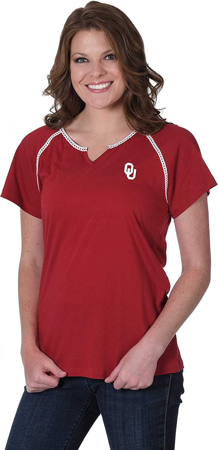 NCAA Womens Lace Trim Tee