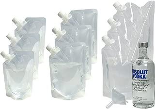 Hide Your Booze Secret Flask Kit 3 PACK - Includes 9 Flasks - (3) 8 oz, (3) 16 oz, (3) 32 oz. flasks and funnel