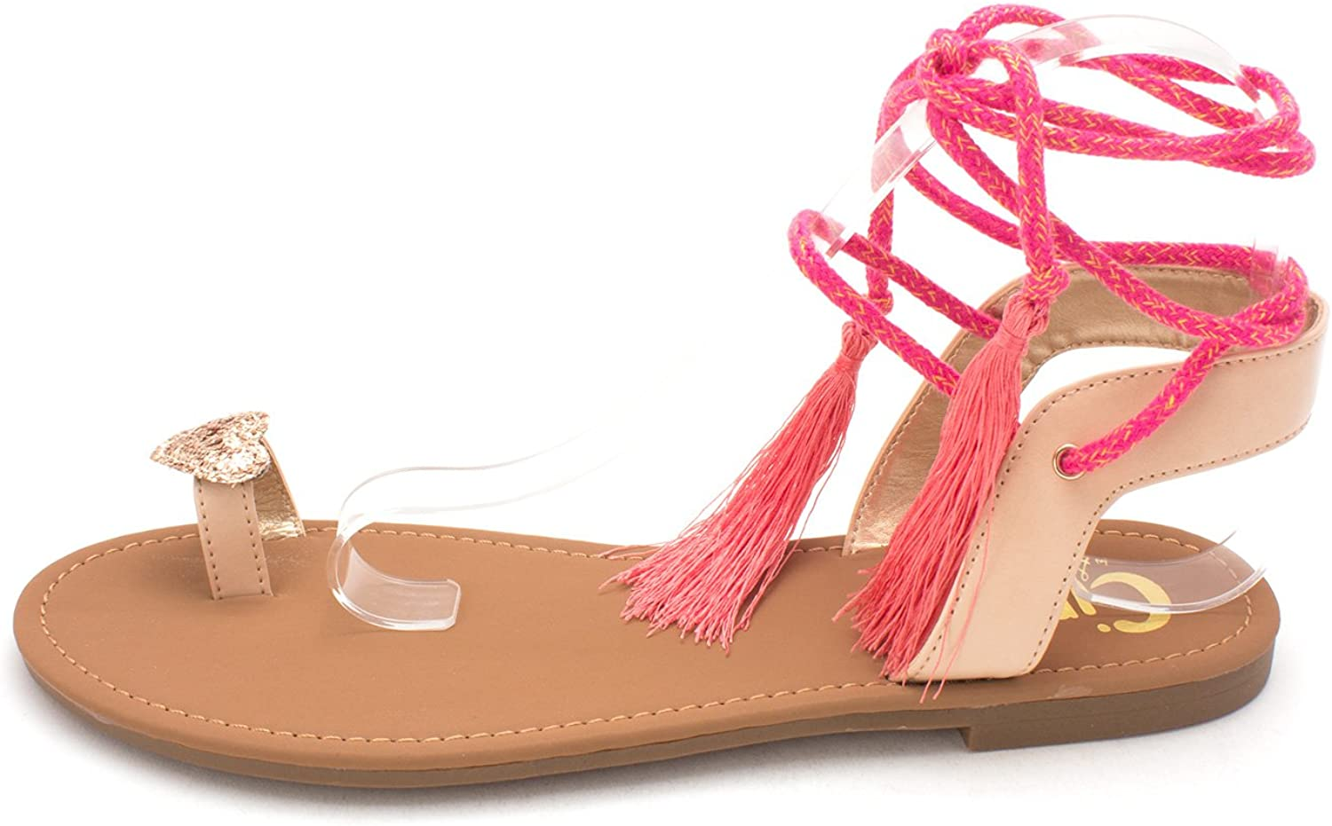 Circus by Sam Edelman Womens Binx-1 Open Toe Casual, Natural Naked, Size 9.5