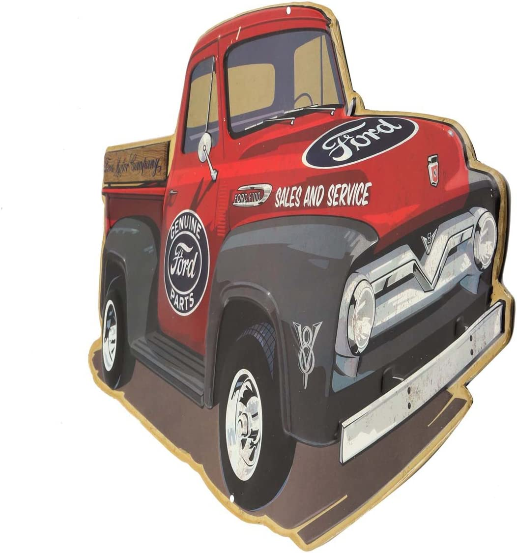 Open Road Brands Metallschild Mit Aufschrift Ford Pick Up Truck Rot Küche Haushalt
