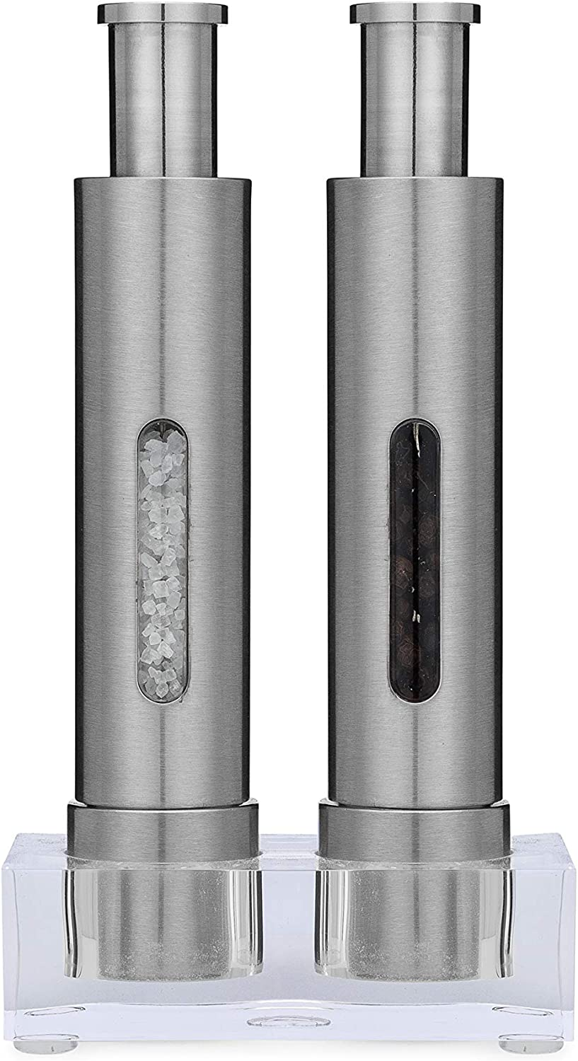 Grind Gourmet Salt and Pepper Grinder Outlet sale feature 2 Discount is also underway Set with of Thumb Modern