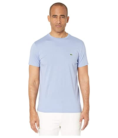 Lacoste Short Sleeve Pima Crew Neck T-Shirt (Purpy) Men