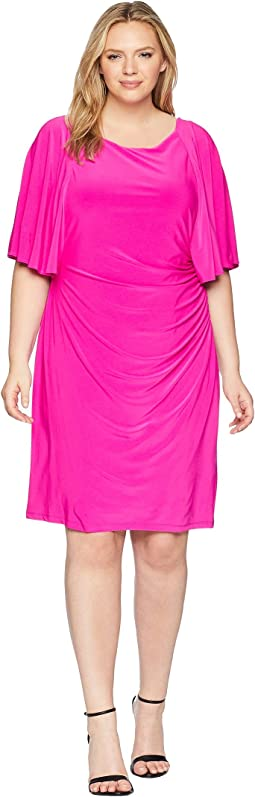 Plus Size 1T Matte Jersey Jessup 3/4 Sleeve Day Dress