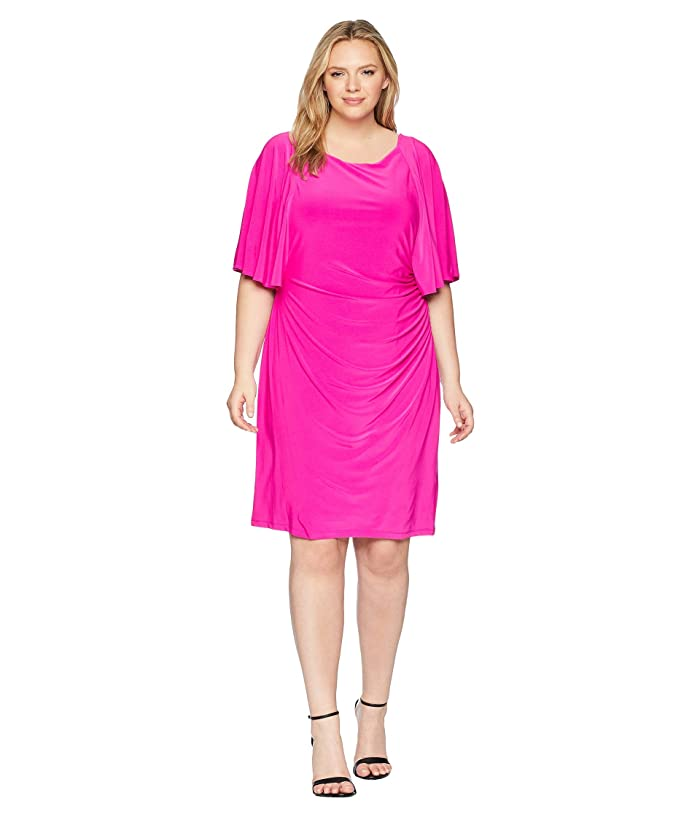 LAUREN Ralph Lauren Plus Size 1T Matte Jersey Jessup 3/4 ...