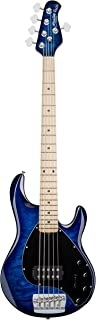 Sterling By MusicMan 5 String Sterling by Music Man StingRay Ray35QM Bass Guitar with Quilted Maple Top in Neptune Blue (RAY35QM-NBL-M1)