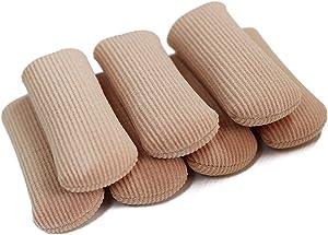 ERGOfoot 6 Pack Toe Caps Close Finger Toe Sleeve Tubes Toe Protectors Gel Rubbing Tube to Prevent Bunions, Hammertoes, Callus, Corn, Blisters(Diameter 2.0cm)