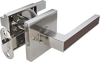 TITANTON 1705 - Modern Door Handle Door Lever Set in Satin Nickel Finish with Privacy Pin Function