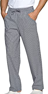 tessile astorino Pantalone Cuoco Basic Made in Italy Nero