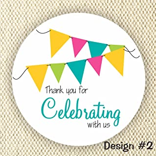 Thank you for Celebrating with us Labels - Party favor stickers