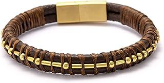 Fcking Politeness Morse Code Leather Bracelets for Men...