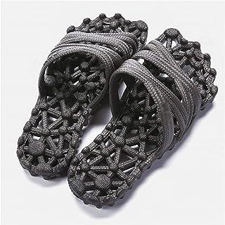 YAOLUU Summer Slippers Indoor Hollow Home Sandalias y Zapatillas Baño de Verano Baño de baño Suave Masaje Abierto de Fondo...