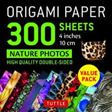 "Origami Paper 300 sheets: Nature Photo Patterns 4"" (10 cm)"