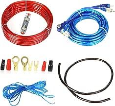 takestop Kit completo de cables de audio RCA para instalación de un amplificador en el coche