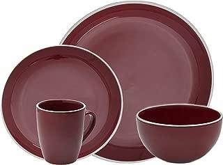 Halo by Darbie Angell Harmony 16 Piece Stoneware Dining Set - Red
