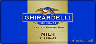 Ghirardelli Chocolate Baking Bar, Milk Chocolate, 4-Ounce Bars (Pack of 6)