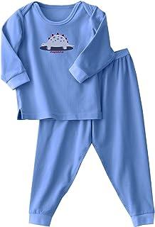 Halo Innovations 2187 ComfortLuxe Sensitive Skin Sleepwear Two-Piece Set, Blue/Print, 2 Years