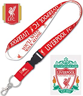 WinCraft Liverpool Football Club 3 Item Combo Set 1 Lanyard, 1 Collector Lapel pin, and 1 Small Decal