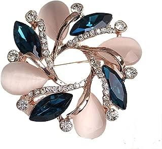 ECYC Arbeiten Sie Kristall Bauhinia Frauen-Brosche für Frauen Kleid Kleidung Dekorative Pin